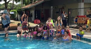 Kid Scouts Swim Test and Lessons at Mickeys Retreat